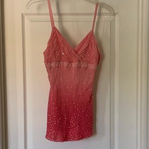 Bebe top with sequins size XS